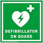 100X100MM DEFIBRILLATOR ON BOARD AMBULANCE STICKER MINIBUS TAXI BUS COACH