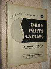1947-1950 STUDEBAKER BODY PARTS CATALOG PARTS NUMBERS BOOK LIST 47 48 49 50