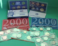 2000 Proof and Uncirculated Annual US Mint Coin Sets PDS 30 Coin
