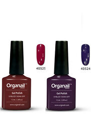 LOT 2 Vernis à ongle Professionel Rouge decadent rock Semi permanent GEL UV led