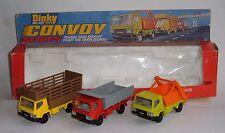 Dinky Toys No. 399, Convey Skip, Farm and Dumper Truck Set, - Superb.