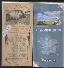 NEUF 2 CARTES 100 ANS D INTERVALLE MICHELIN N°6 ST QUENTIN - REIMS LAON SOISSONS