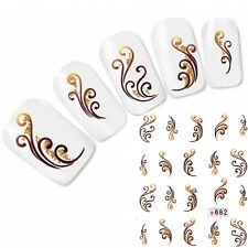 Tattoo Nail Art Aufkleber Ornament Glitzer Fingernägel Nagel Sticker Neu!