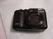 Very Nice Canon PowerShot G12 10 MP Digital Camera - Black
