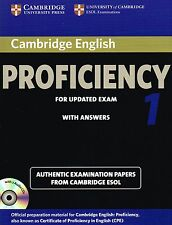 Cambridge ENGLISH PROFICIENCY 1 for updated exam CPE w Answers & Audio CD's @NEW