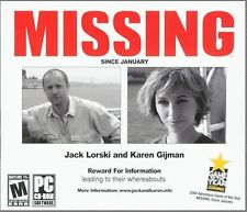 MISSING Since January PC Game CD-ROM Adventure NEW