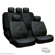 New Porous Black Leatherette Car Seat Covers Set For Ford