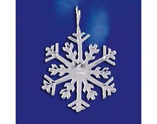Sterling Silver Snowflake Pendant Winter Flake Snow Holiday Charm 925 Italy New