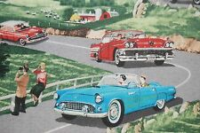WI05 Retro Vintage Rally Hot Rods Cruisers Cars Autmobiles Cotton Quilt Fabric