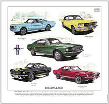 FORD MUSTANG 1964½-68 - Fine Art Print - Shelby GT350-H Convertible Cobra Jet