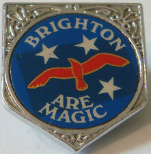 BRIGHTON & HOVE ALBION Vintage 1970s 80s insert badge Brooch pin 26mm x 29mm