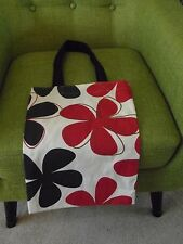 New Shabby Chic tote shopping bag retro fabric floral blue red white shopper