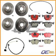 4 Brake Rotors Brembo + Brake Pads + 2 Sensors Front & Rear E83 BMW X3 2.5L 3.0L