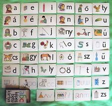 Vintage Hungarian alphabet abc card letter original not used RARE learn Hungary