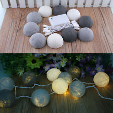 Aladin 10 Cotton Ball Fairy String Light Lantern Party Decor Decoration