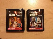 10 packs stickers Topps STAR WARS Part 1 Unopened