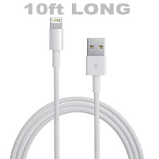 10Ft _ 8pin Lightning to USB Charge Sync Cable Apple iPhone 6/5/iPad Air/4/Mini