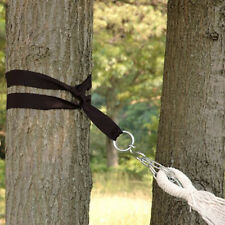 "Nylon Hanging Hammock Tree Straps Kit 2"" Hook S Rings 300 Weight Capacity New"