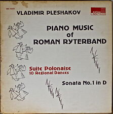 PIANO MUSIC OF ROMAN RYTERBAND-1976LP Vladimir Pleshakov, Orion Label DOLBY SYST