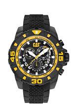 Mens Caterpillar Sport Evo CAT PT16321127 Black Rubber Yellow Accent Date Watch