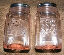 Pink Salt and Pepper Shakers Pair Reproduction Depression Glass #504P