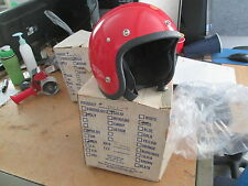 Vintage Rare 1970's Red Childs Medium Buco Poly Motorcycle Helmet 1773-2