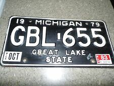 Vintage 1979 Michigan License Plate - GBL-655