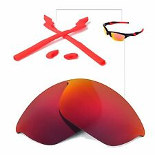New WL Polarized Fire Red Lenses And Rubber Kit For Oakley Half Jacket 2.0