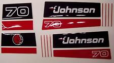 Johnson Outboard Hood Decals 3 cyl 1991 70 hp