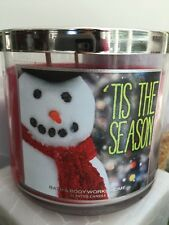 BATH & AND BODY WORKS TIS THE SEASON HOLIDAY 3 WICK 14.5 OZ JAR SCENTED CANDLE