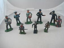Vintage Barclay Train Figures Ticket Taker Steward Mailman Police Porter