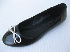 Pierre Dumas Womens Shoes NEW $42 Nizza Black Patent Ballet Flat 9 M