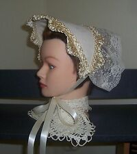 Civil War/Victorian/SASS Ladies Dress Hat/Bonnet (solid Off-white)