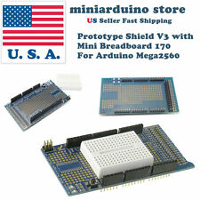 Arduino MEGA2560 Prototype Shield ProtoShield V3 with 170 pin mini breadboard