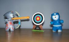 McDonalds Toy - London 2012 Olympics - blue & grey mascot archery boxing