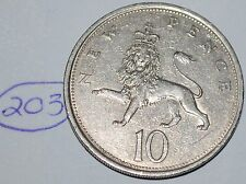 1968 Great Britain 10 New Pence UK Coin KM# 912 Lot #203