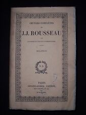 Oeuvres complètes de J. J. Rousseau - Mélanges