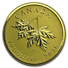 2016 Canada 1/4 oz Gold $10 Maple Leaf (2003 Queen Effigy) - SKU#95945