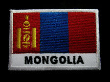 MONGOLIA MONGOL MONGOLIAN NATIONAL FLAG Sew on Patch Free Postage