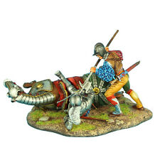 REN037 German Landsknecht Finishing Off Downed French Knight by First Legion