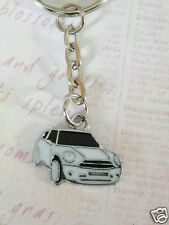 CUTE ENAMEL WHITE BMW MINI CAR KEYRING/Keychain/bag charm