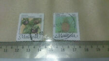 2 Malaysia $1 and 50 cent Stamp Malaysian Fruits Arts