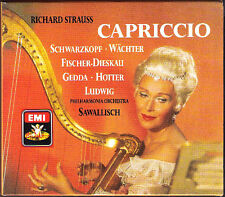 STRAUSS: CAPRICCIO Schwarzkopf Gedda Wächter Fischer-Dieskau SAWALLISCH 2CD EMI
