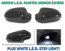 USA 03-09 W209 CLK Arrow LED Side Painted Black Mirror Cover + LED Step Light