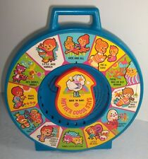 Vtg 1983 Mattel SEE N SAY Mother Goose Nursery Rhymes toy with pull string