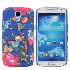 Cover Für Samsung Galaxy S4 Tasche Schutz Hülle Cas Schale Blumen Zubehör