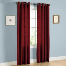THERMAL 100% BLACKOUT BURGUNDY ROSE  grommet FAUX SILK SUEDE window curtain