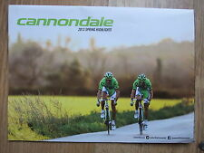 BRAND NEW ~ CANNONDALE 2013 SPRING HIGHLIGHTS FOLD OUT BIKES & INFO  CATALOGUE