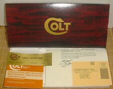 Colt Single Action Army & Colt New Frontier Gen. III Box & Paperwork 43/4-71/2