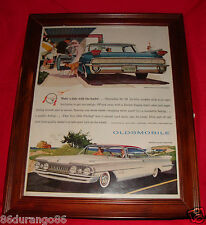 VINTAGE 1959 FRAMED AD OLDSMOBILE 98 SUPER 88 COUPE OLD AD NEW FRAME